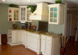 Painted Chimney hood Allesandro Kitchen