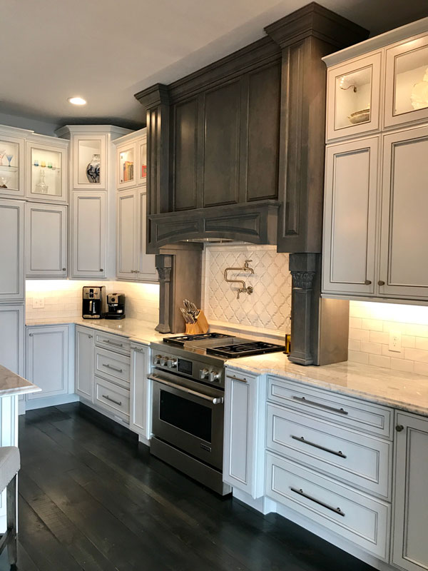 Wood Stained Kitchen Cabinets